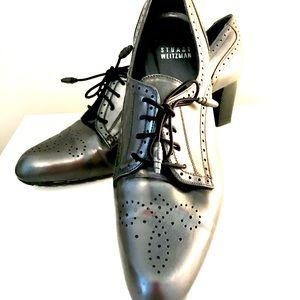 Stuart Weitzman Heeled Brouge Oxford Shoes